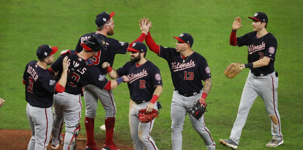 Celebración de los Washington Nationals