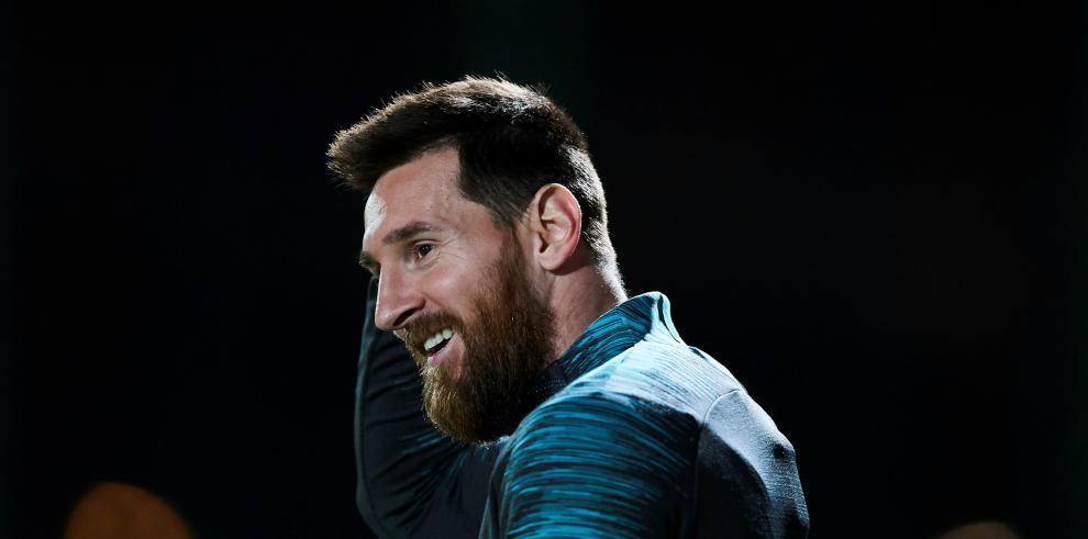 El delantero argentino del FC Barcelona Leo Messi.