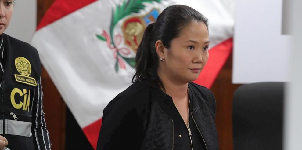 En la imagen, la líder opositora peruana Keiko Fujimori.