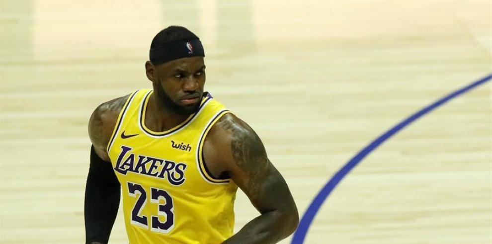 LA Lakers forward LeBron James.