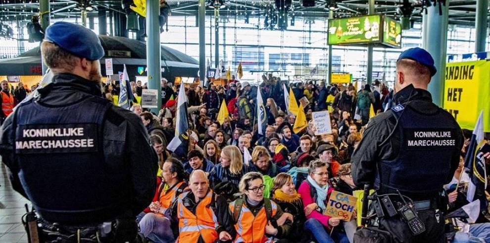 protesta cambio climático amsterdam 2019