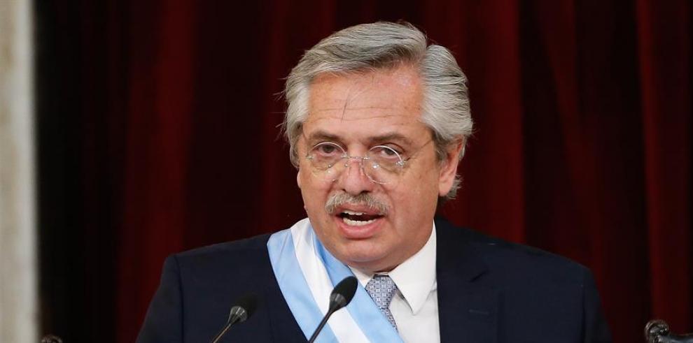 El presidente de Argentina, Alberto Fernández.