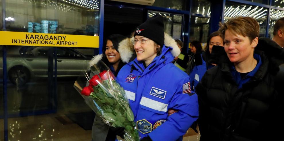 La astronauta estadounidense Christina Koch