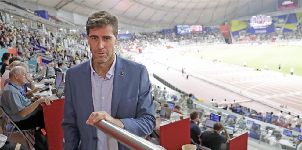 El presidente de la Federación Española de Atletismo, Raúl Chapado.