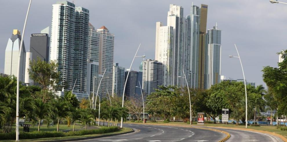 Ciudad de Panamá, 4 de abril de 2020. Las calles de la ciudad de Panamá están vacías por las medidas tomadas por el Gobierno.