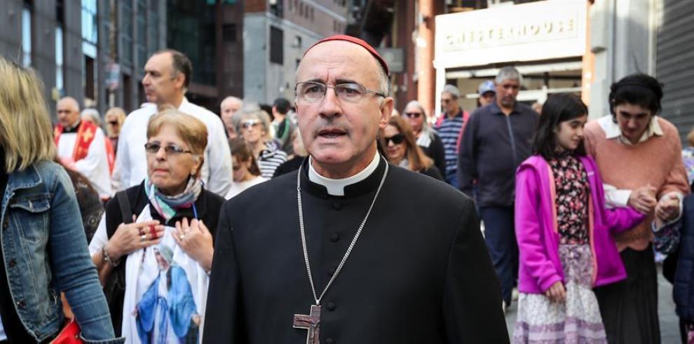 En la imagen, el arzobispo de Montevideo, el cardenal Daniel Sturla.