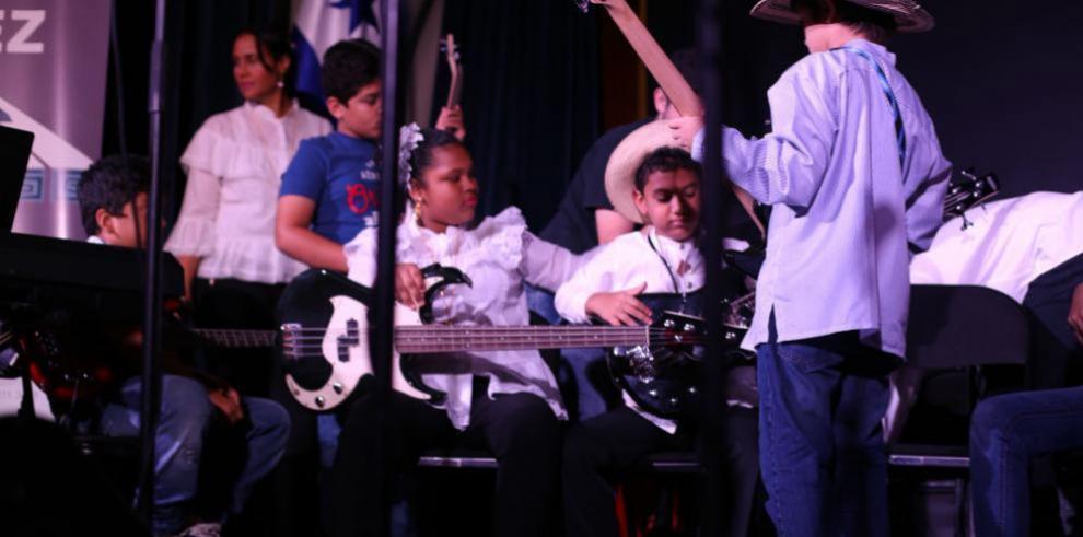Estudiantes de la Fundación Danilo Pérez