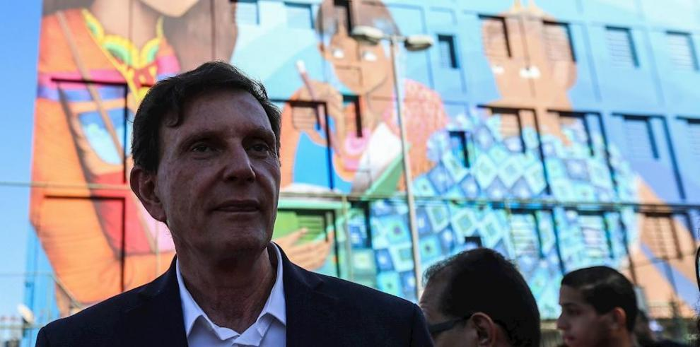 En la imagen el alcalde de Río de Janeiro, Marcelo Crivella.