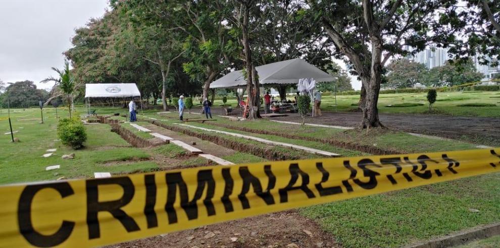 Exhumación de restos óseos de caídos del 20 de diciembre