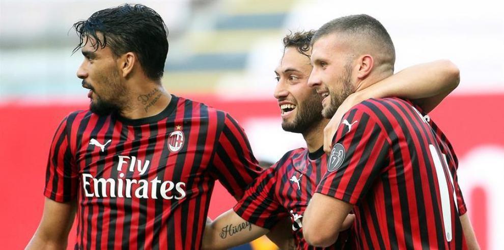 Rebic acerca al Milan a la Liga Europa y aleja al Roma de la Liga Campeones