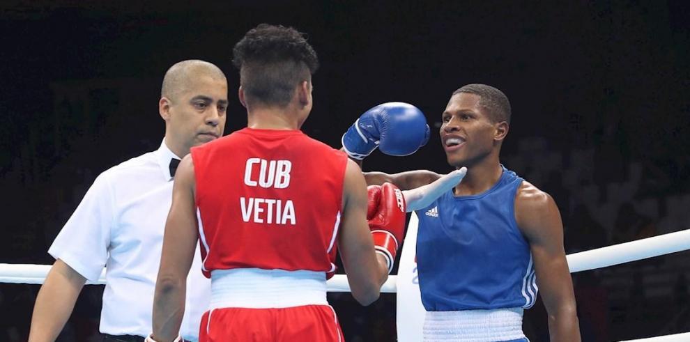 En la imagen Rodrigo Marte (d) de República Dominicana.