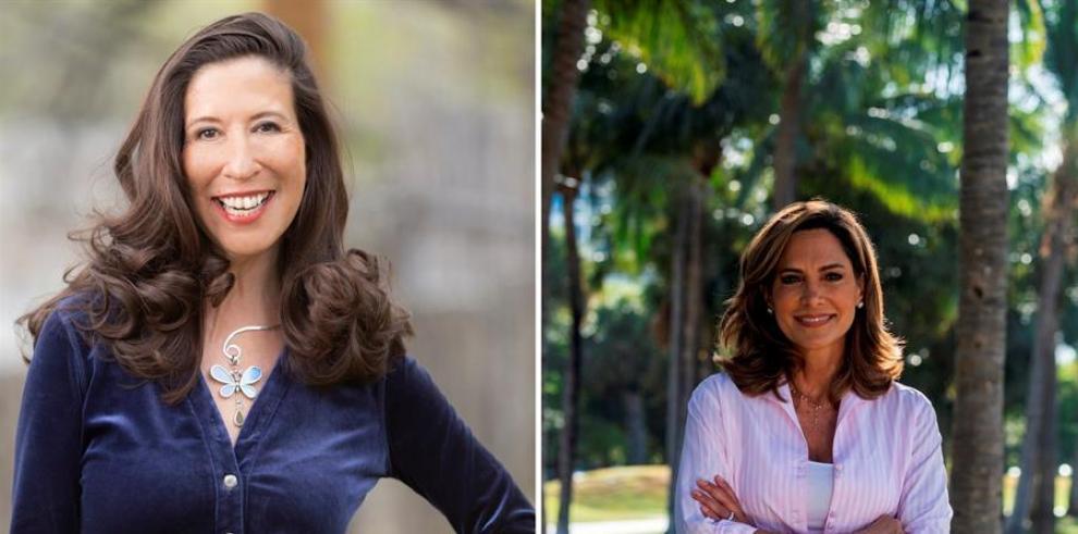 Combo de dos fotografías cedida por sus respectivas campañas electorales donde aparecen las nuevas congresistas la demócrata Teresa Leger Fernández (i), que representará al distrito 3 de Nuevo México, y a la republicana María Elvira Salazar, que represent