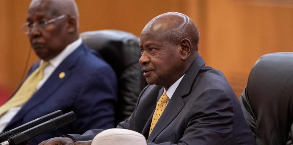 Yoweri Museveni, jefe de Estado de Uganda