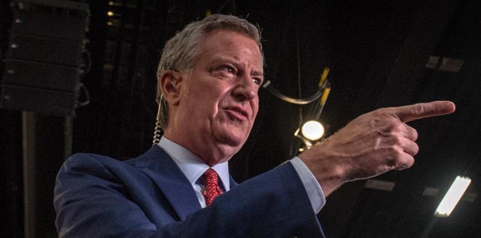Alcalde de Nueva York, Bill De Blasio, quien afirmó que