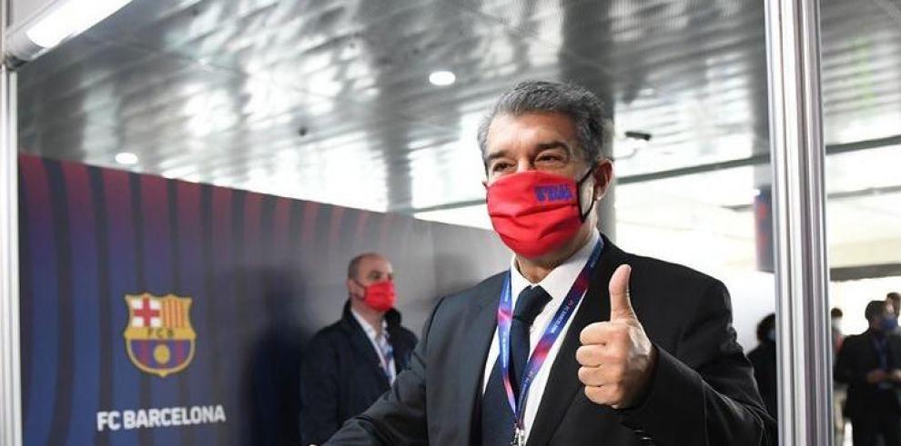 El candidato a la presidencia del FC Barcelona, Joan Laporta
