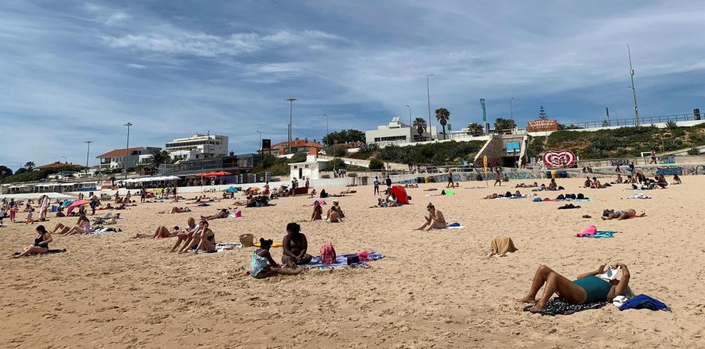 Playa de Carcavelos, en Lisboa