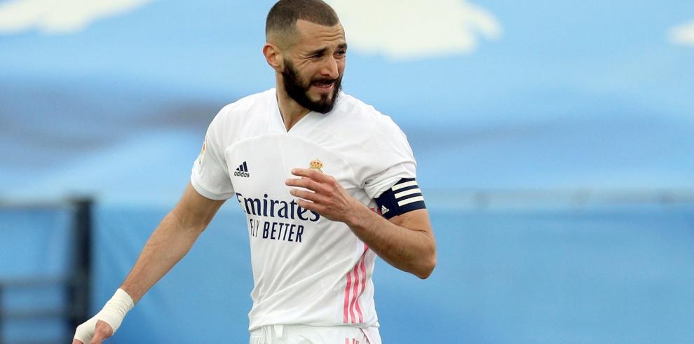 El delantero francés del Real Madrid Karim Benzema