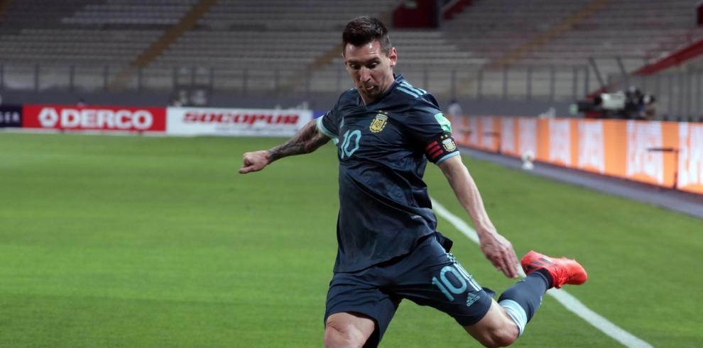 El jugador Lionel Messi de Argentina