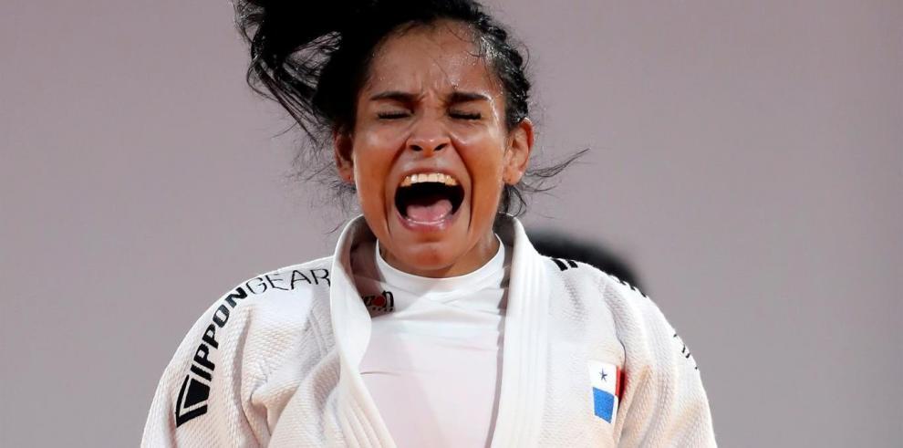 La judoca Kristine Jiménez de Panamá