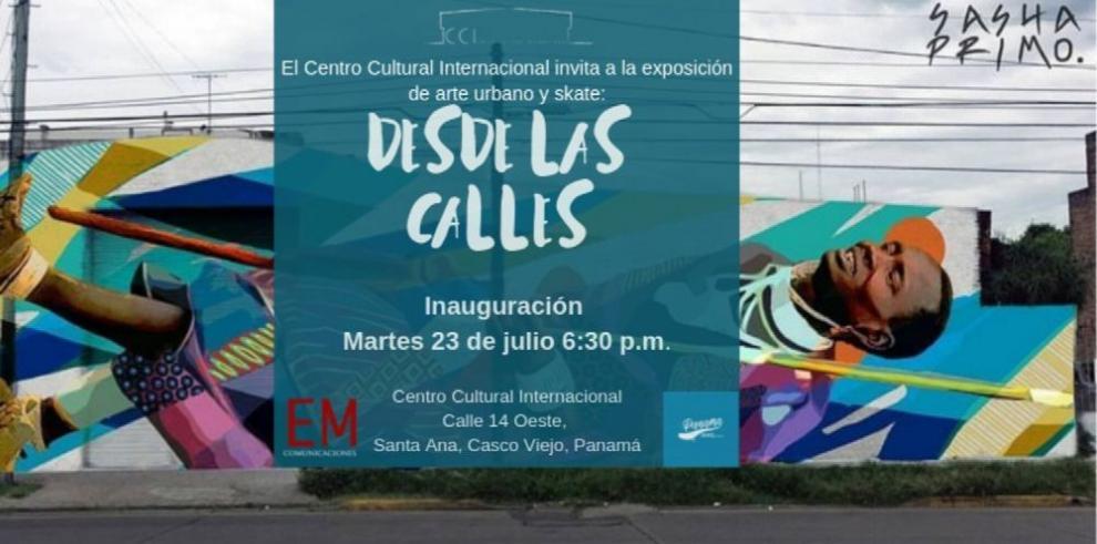 Exposición de arte urbano y 'skate'
