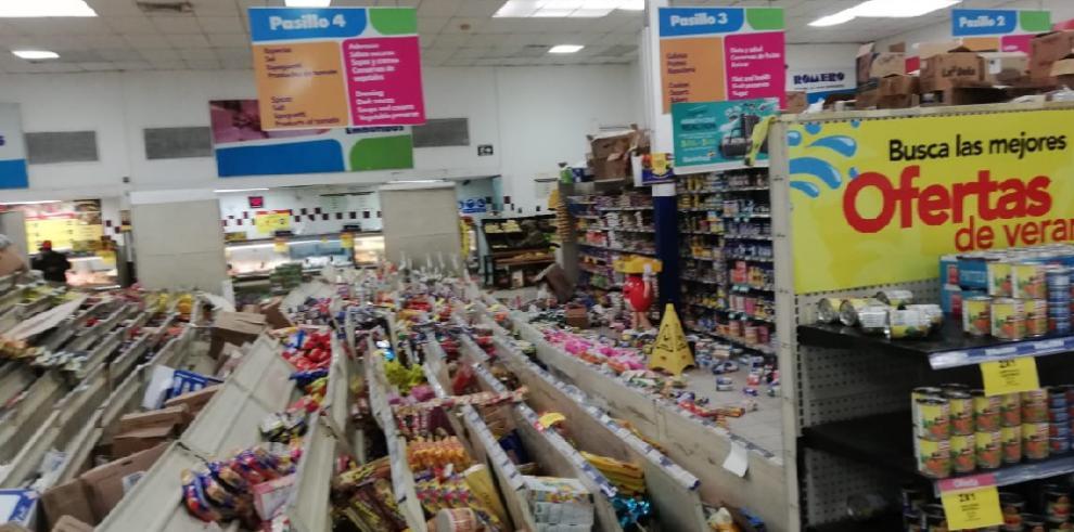 Sismo de magnitud 6.3 en Chiriquí, deja afectaciones en comercios