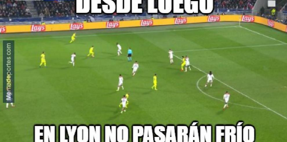 El Barcelona aniquila al Lyon, aquí sus memes