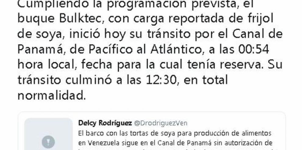 Polémica por buque agita tensiones entre Panamá y Venezuela