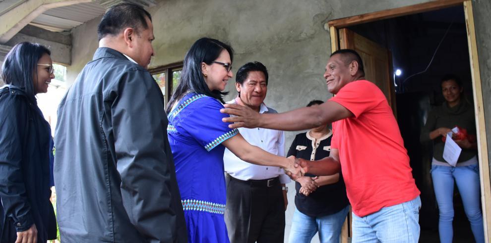 Ministra de Desarrollo Social recorre Chiriquí y la Comarca Ngäbe-Buglé