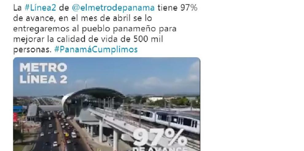 Línea 2 del Metro de Panamá registra 97% de avance