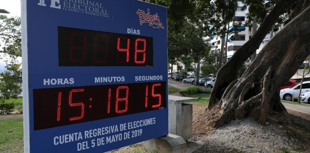 Reloj marca la cuenta regresiva para las elecciones