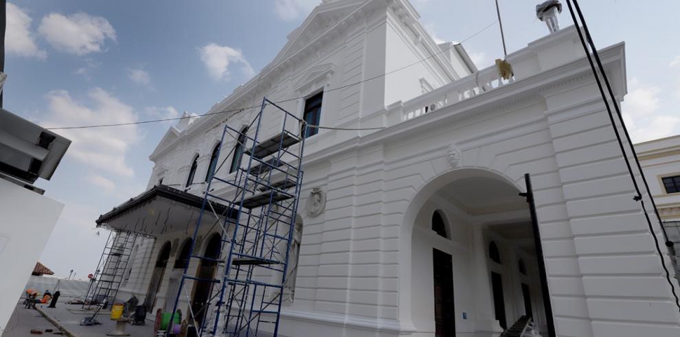 La restauración del Teatro Nacional tiene 80% de avance y su costó es $15 millones