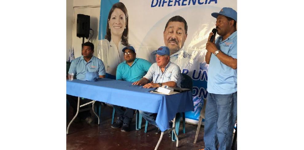 Fórmula Gómez-Arango visita Chiriquí y Veraguas