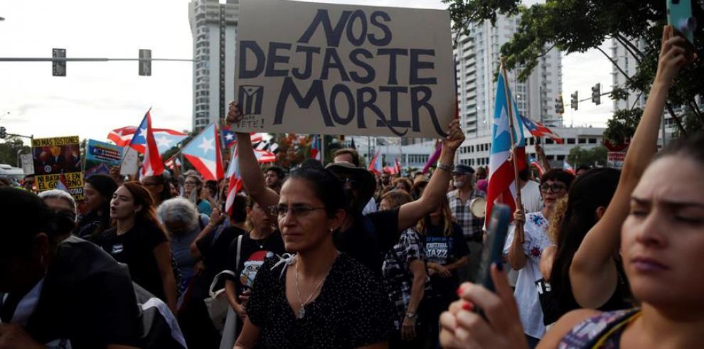 Protestan en Puerto Rico contra la posible sucesora de Rosselló, Wanda Vázquez
