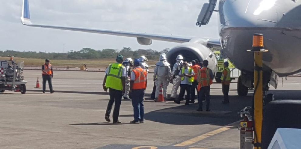 Succión de ave causa incidente con aeronave en el Aeropuerto de Tocumen