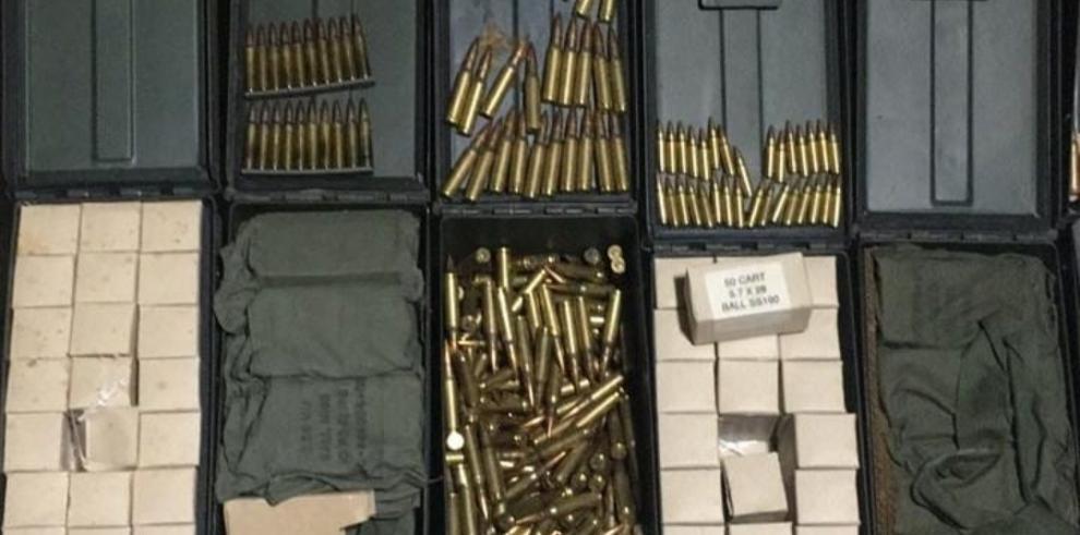 Fiscalía investiga hallazgo de armas militares