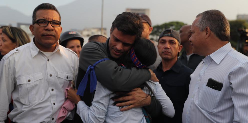 Liberado el opositor venezolano Leopoldo López