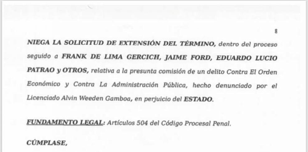 Juez Carrasquilla niega extensión del plazo al caso Odebrecht