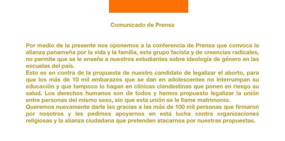 Vocera de campaña de Ricardo Lombana denuncia 'fake news'