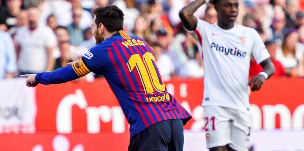 Messi, matador con 3 goles y una asistencia, afianza al Barça en el liderato