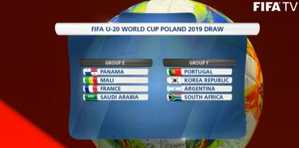 Panamá estará en el Grupo E del Mundial U-20 de Polonia