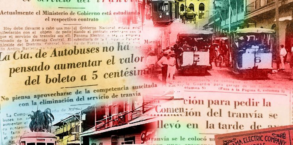 Una manifestación inusual: el entierro del tranvía, de 1941