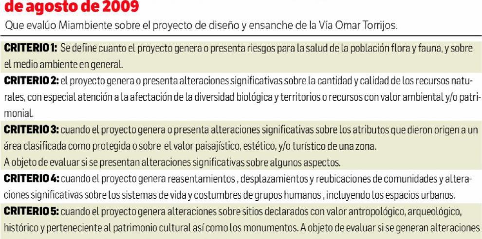 MiAmbiente justifica EIA categoría II del proyecto Omar Torrijos