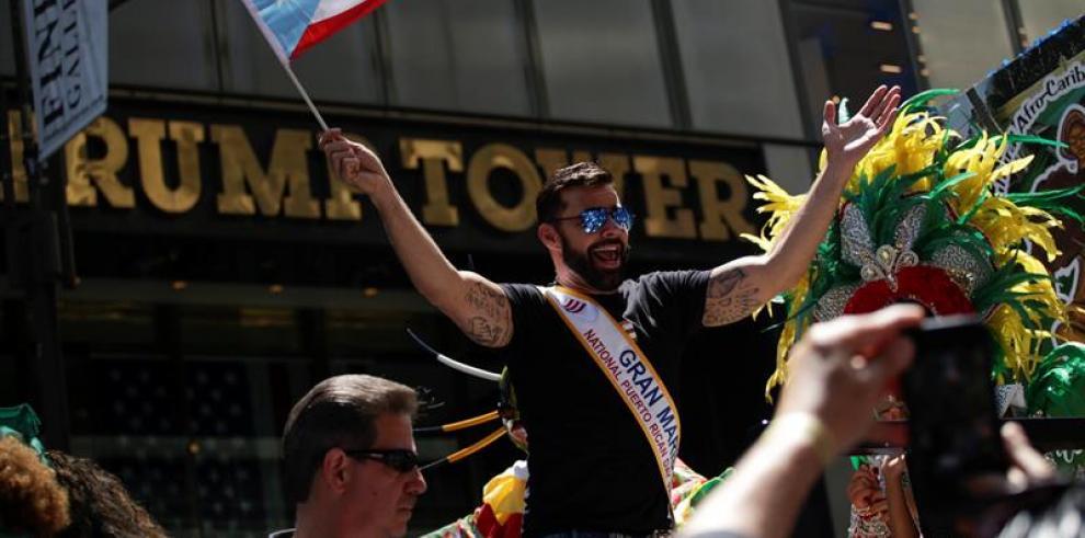 Ricky Martin causa furor como mariscal del Desfile Nacional Puertorriqueño