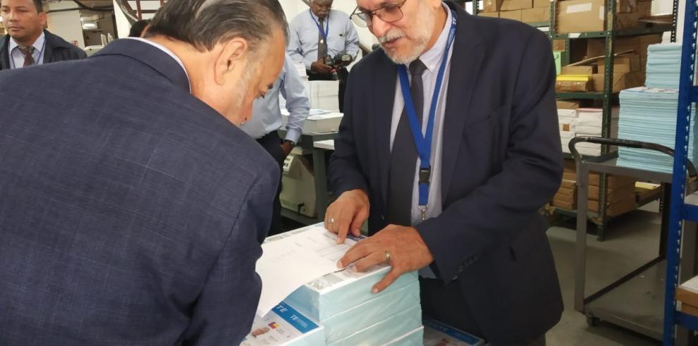 TE inicia la impresión de las papeletas para las elecciones de mayo