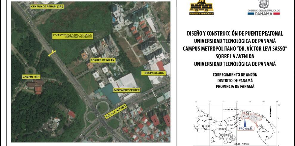 MOP publica nueva convocatoria para construcción de puente peatonal en la UTP