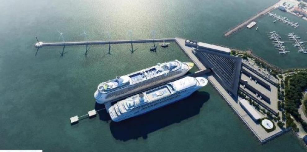 Terminal de cruceros de Amador, con 50% de avance