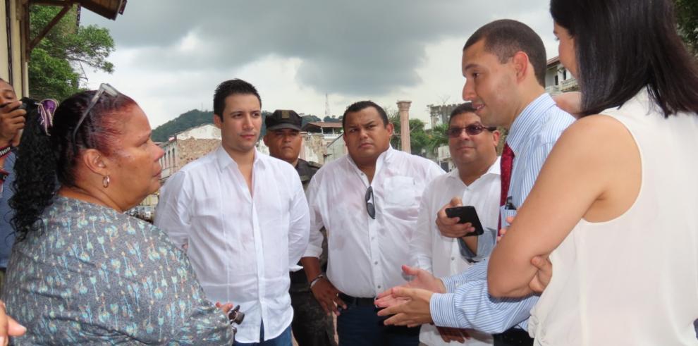 Banco Hipotecario realiza inspección en lotes del Casco Antiguo