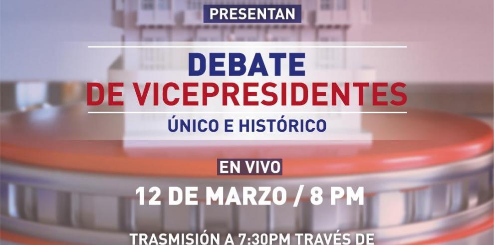 Expectativa por el primer debate de candidatos a vicepresidente