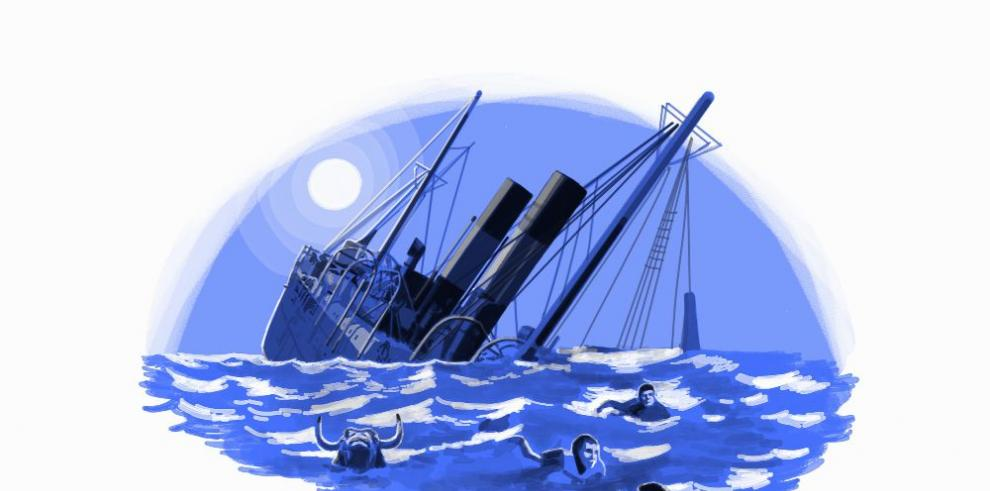 La tragedia del vapor Taboga, cobertura de un naufragio
