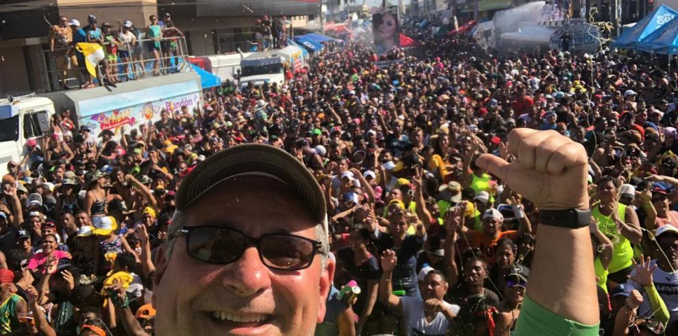 Marco Ameglio cerró su recorrido de carnaval en Aguadulce